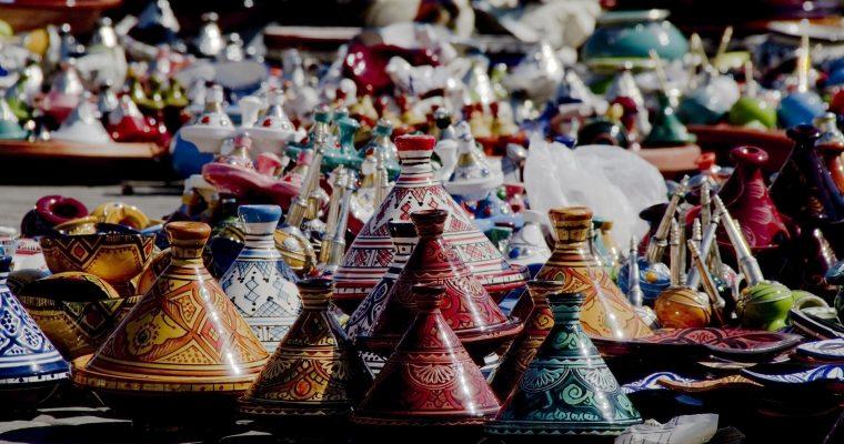 Marokkanischer Eintopf in der Tajine