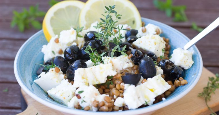 Linsen Feta Salat