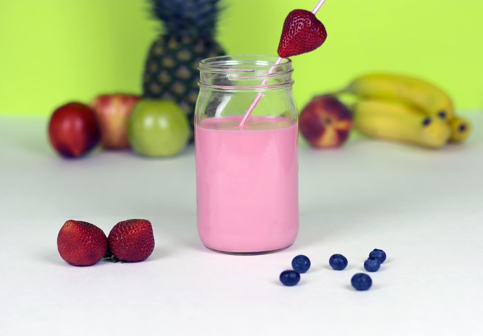 Rhabarber-Erdbeer-Smoothie