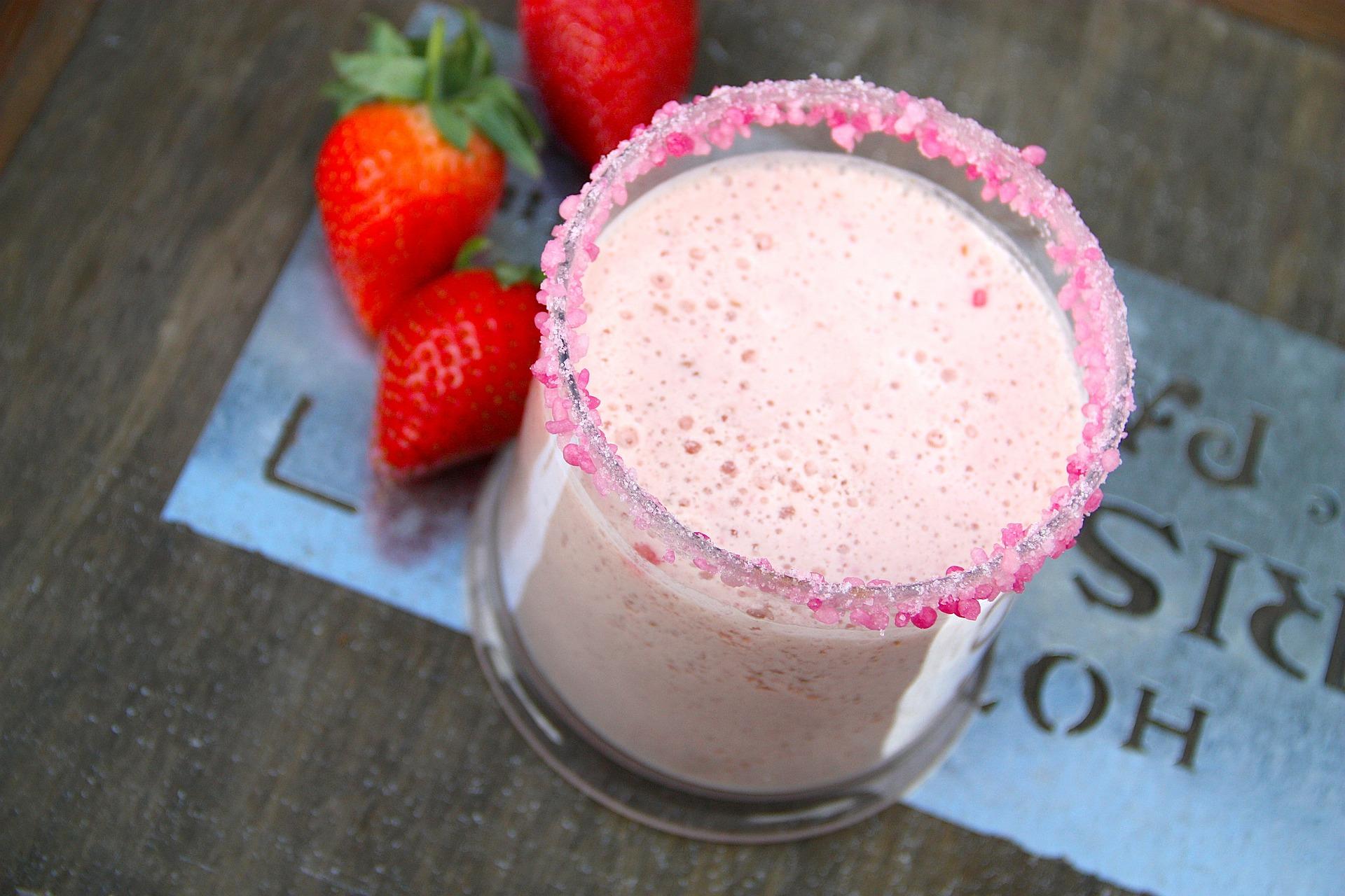Melonen-Erdbeer-Smoothie