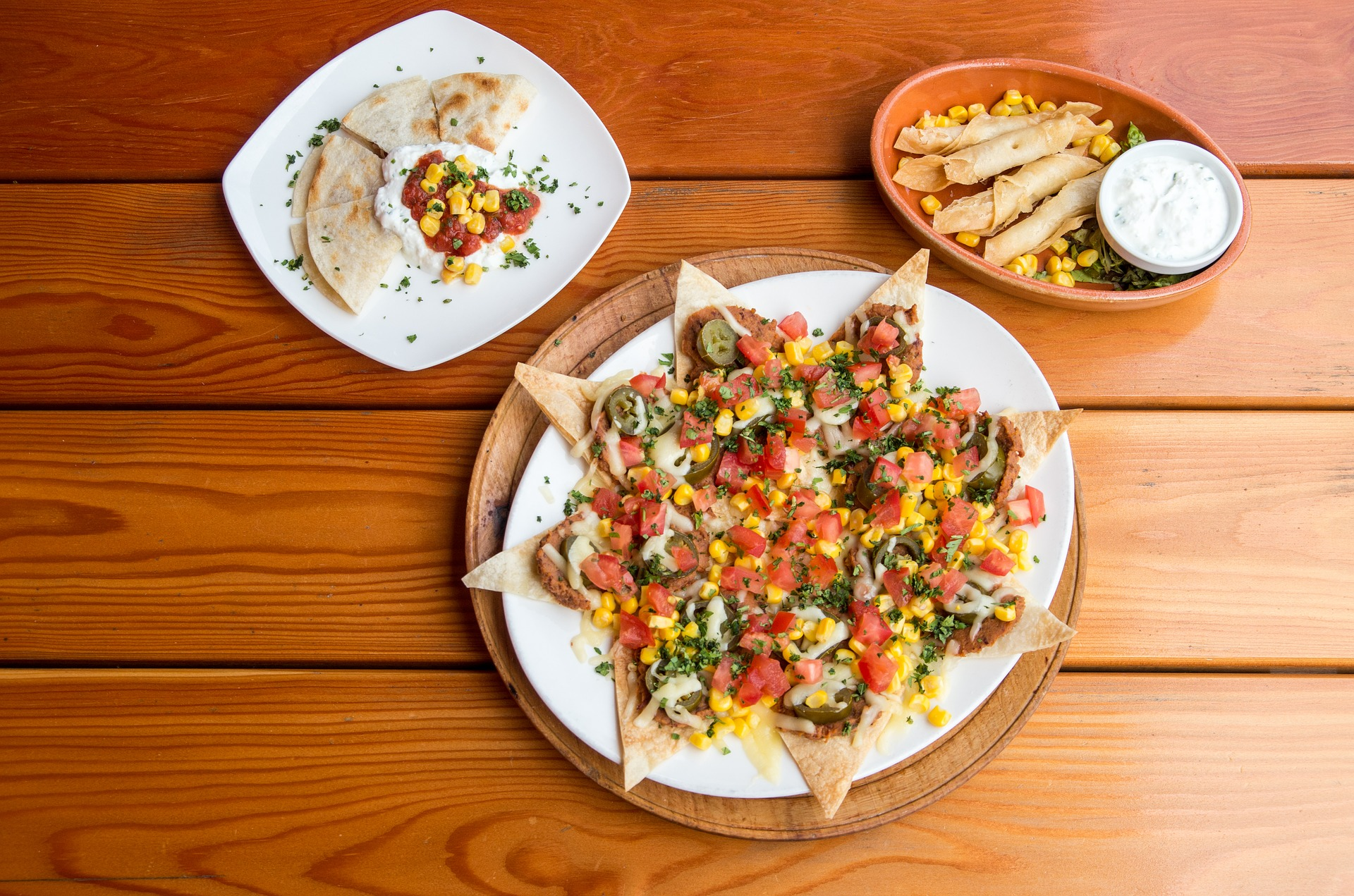Tortillas mit Pute und Bohnen