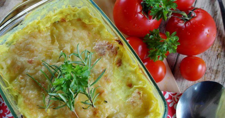 Hähnchengratin mit Pilzen und Mozzarella