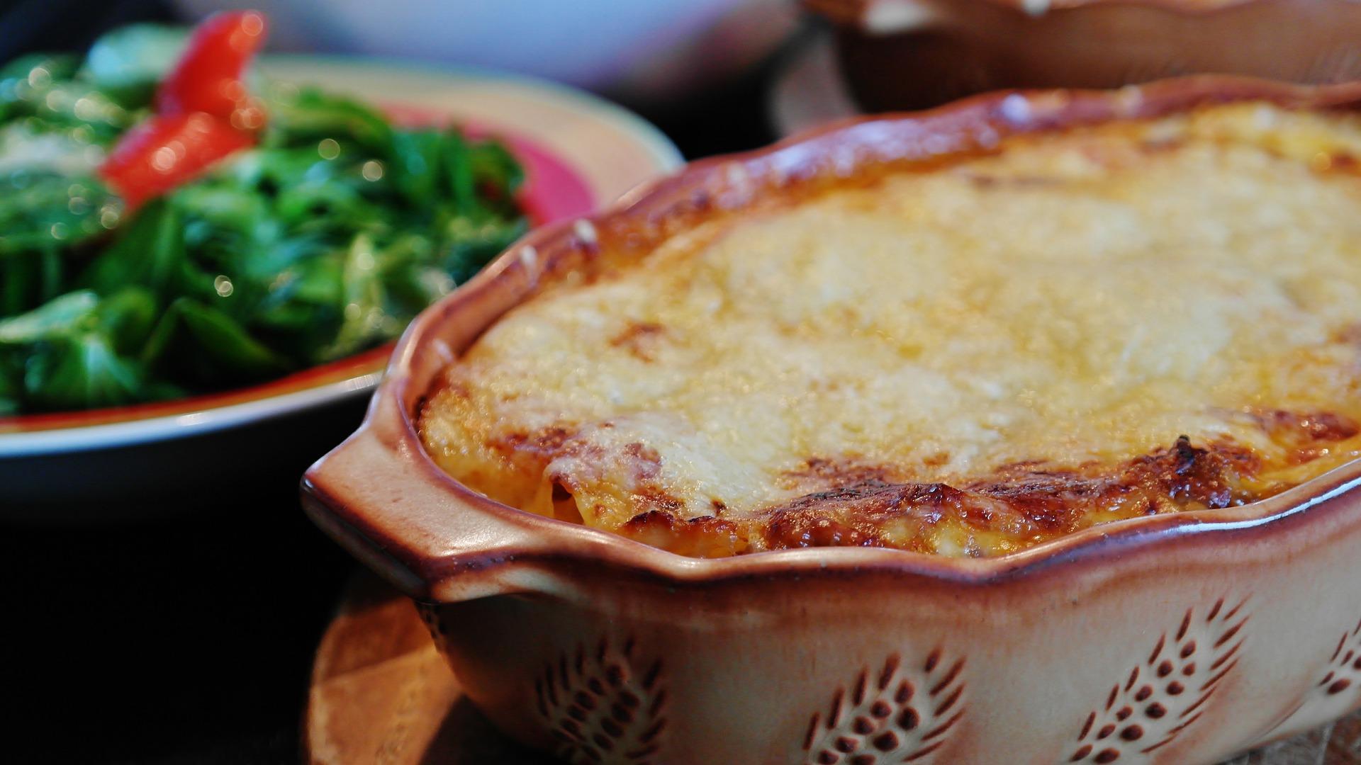 Lasagne mit Spinat und Räucherlachs