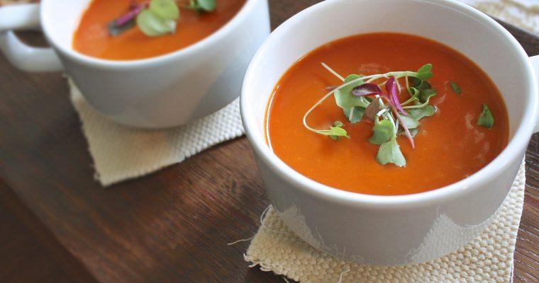 Möhren-Lauch-Suppe mit Chili