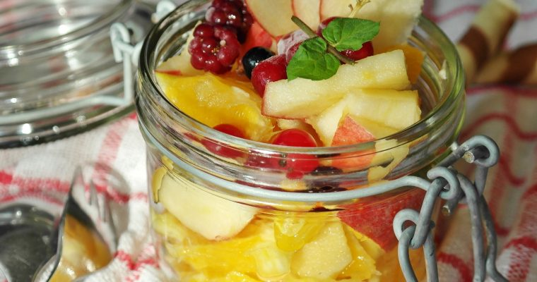 Obstsalat mit Topinambur