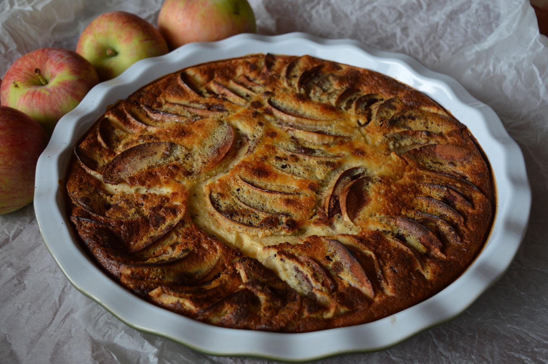 Apfellasagne mit Vanillesoße
