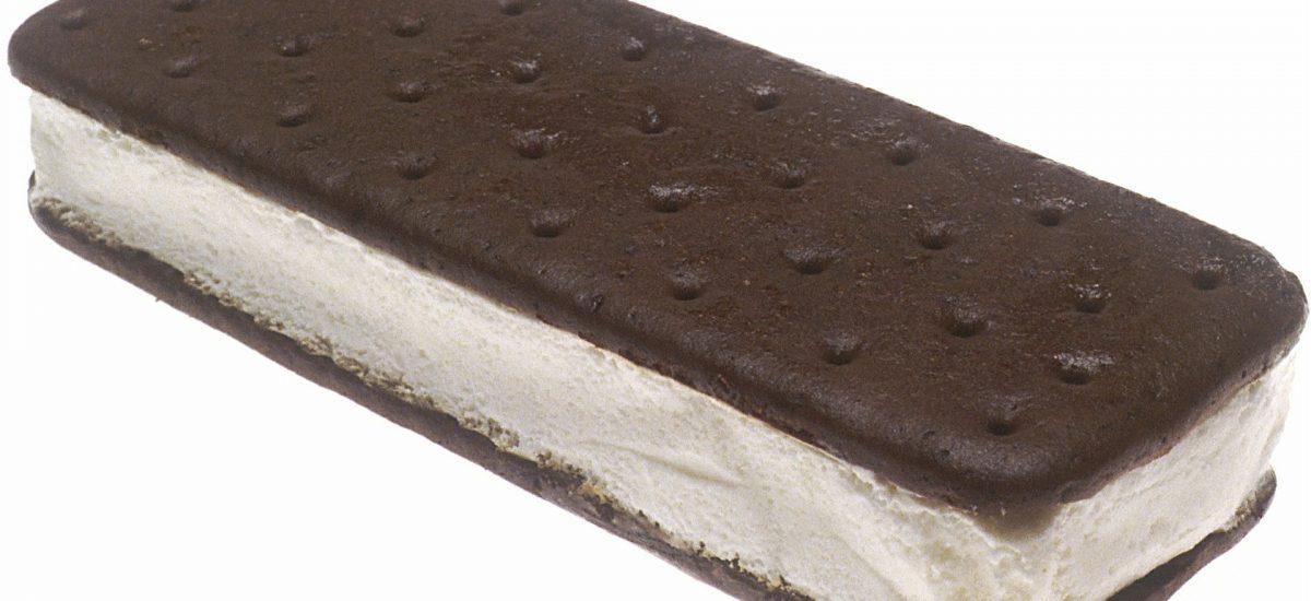 Selbstgemachtes Sandwich-Eis